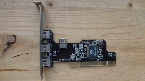 PCI FireWire IEEE 1394a kártya 3+1 portos VT6306 chip