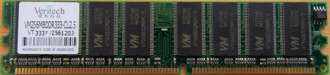 Veritech VM256MBDDR333-CL2.5 256MB DDR333 RAM modul 256 MB PC2700 DDR-SDRAM