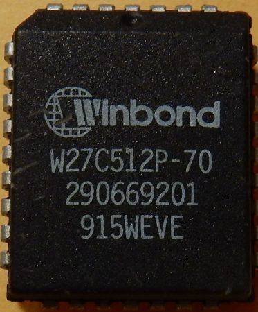 Winbond W27C512P-70 64kx8 EEPROM PLCC32 elektromosan törölhető EPROM