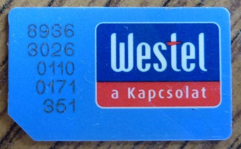 Westel SIM kártya - inaktív