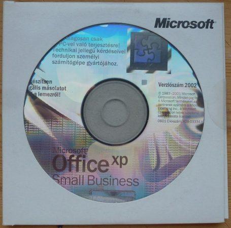 Microsoft Office xp Small Business Version 2002 OEM HU telepítő készlet X08-07951