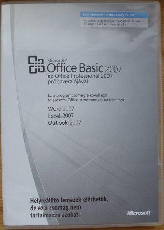 Microsoft Office Basic 2007 OEM HU telepítő készlet X12-88319
