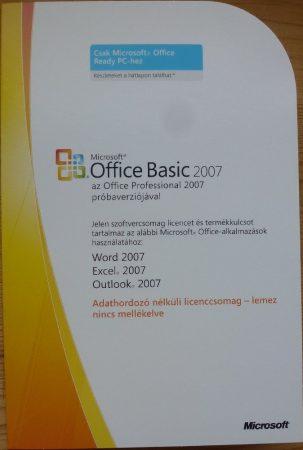 Microsoft Office Basic 2007 OEM HU telepítő készlet X13-90660